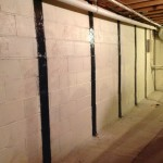 Wall anchors for foundation repair in Urbandale, Iowa