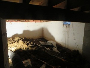 damp crawl space Iowa